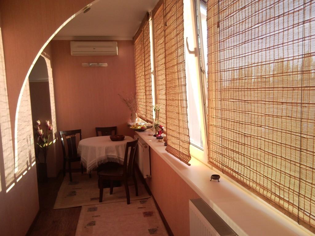 Ремонт столовой с балконом. - остекление лоджий - каталог ст.